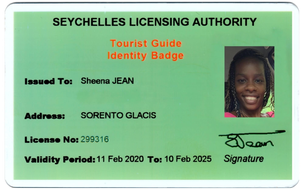 Tourist Guide Identity Badge, Seychelles