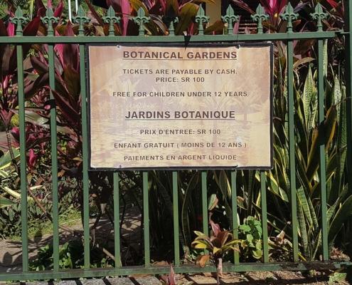 Botanischer Garten Seychellen