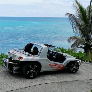 Beach Buggy for island tour on the Seychelles