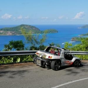 Beach Buggy Tour för ö-tur på Seychellerna