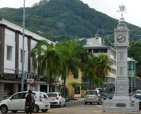 Uhrturm Stadtrundfahrt Victoria Seychellen