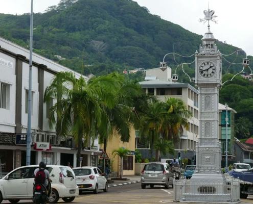 Tour de ville de l'horloge Victoria Seychelles