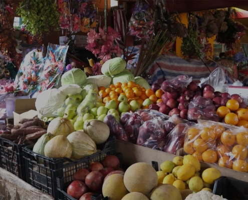 Frugt og grøntsager på Seychellernes marked