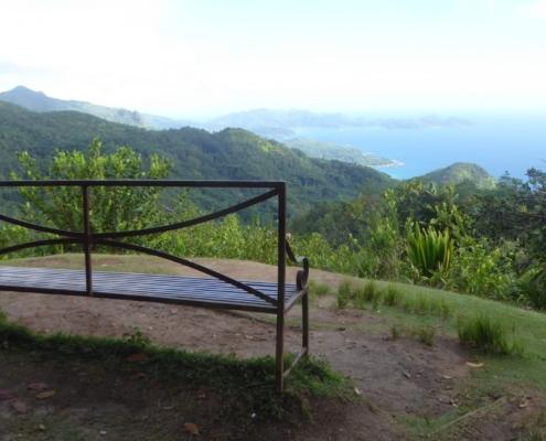 Mission Lodge bänk Seychellerna
