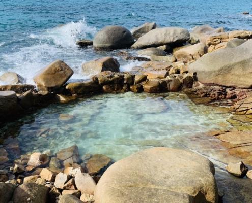 Lille stenbassin på Macabee Seychellerne