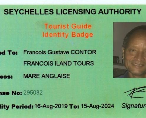 Insignia de guía turístico Francois