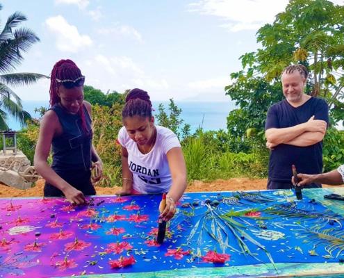 Soul Flower Tour sunprint a Island TourSeychelles-szigetcsoporttal