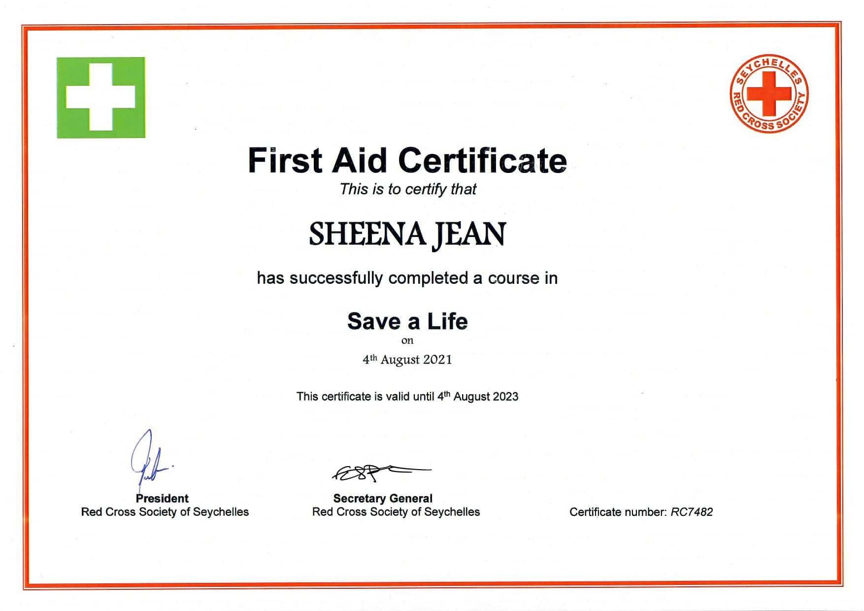 Första hjälpen Sheena 04.08.21